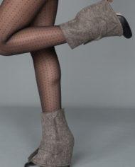 Edie taupe holding heel