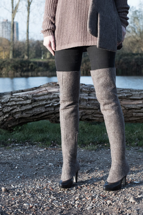 over-the-knee brown