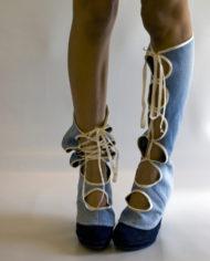 laced jean gaiter