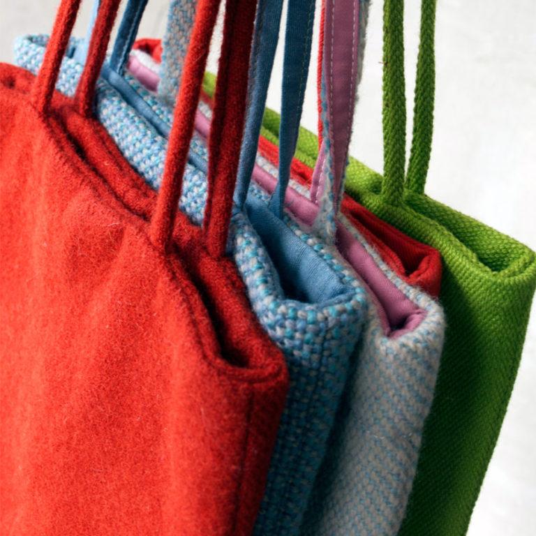 saved fabric bags