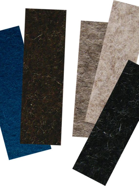 wool felt color samples