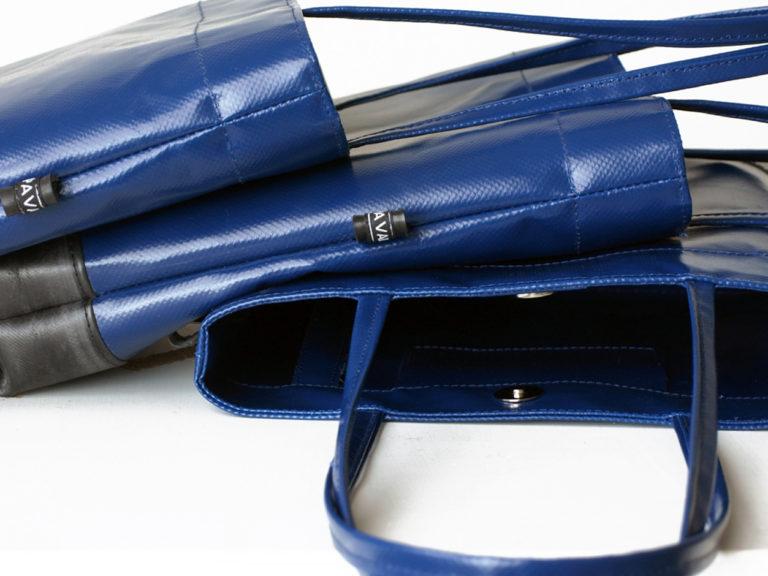 mini shopper bag blue