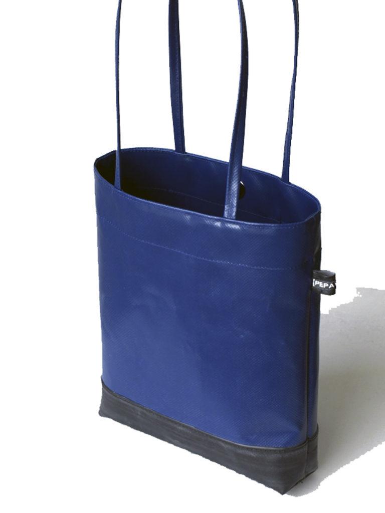 mini shopper bag blue tarp