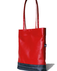 mini shopper bag red tarp
