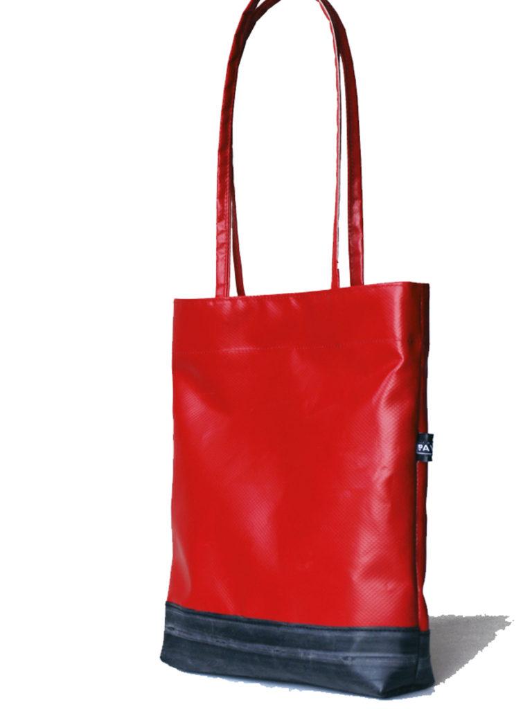 mini shopper bag red tarp