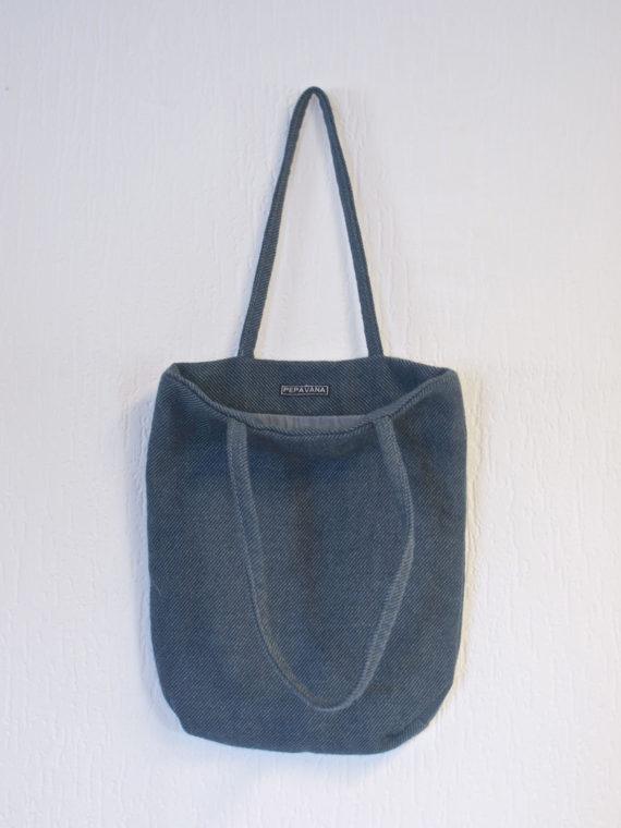 Blue Tweed Bag