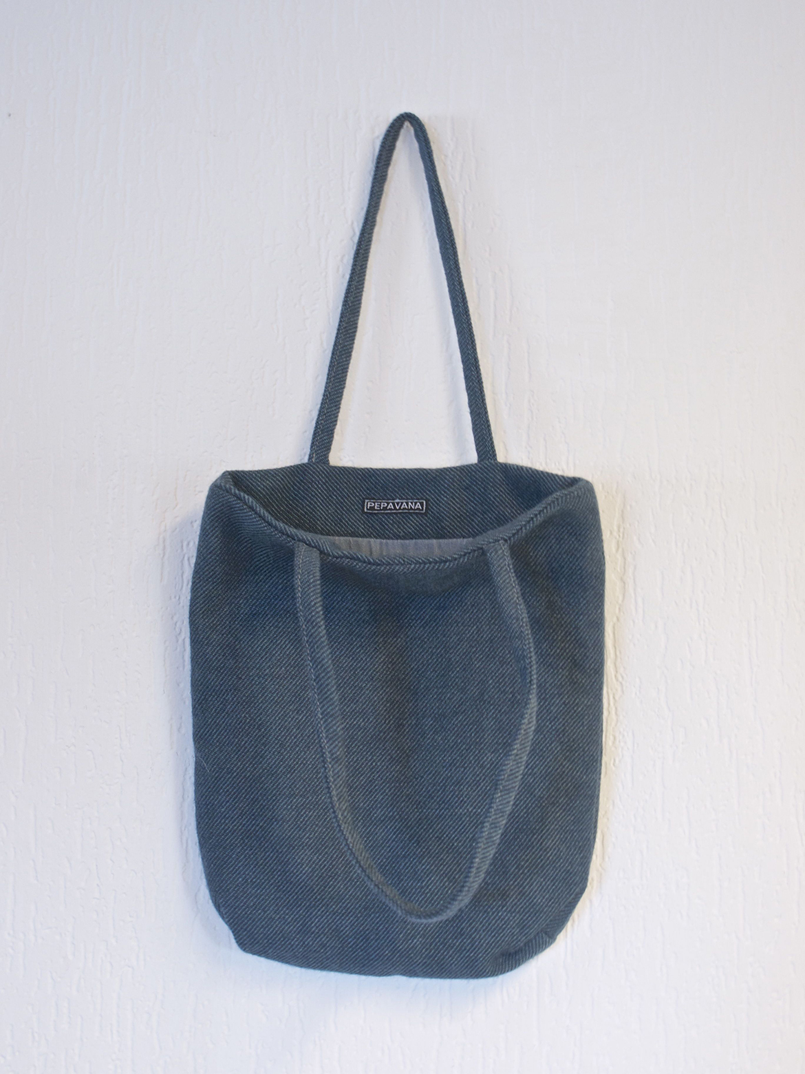 Blue Tweed Bag
