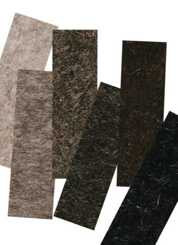 naturel wool felt sample set