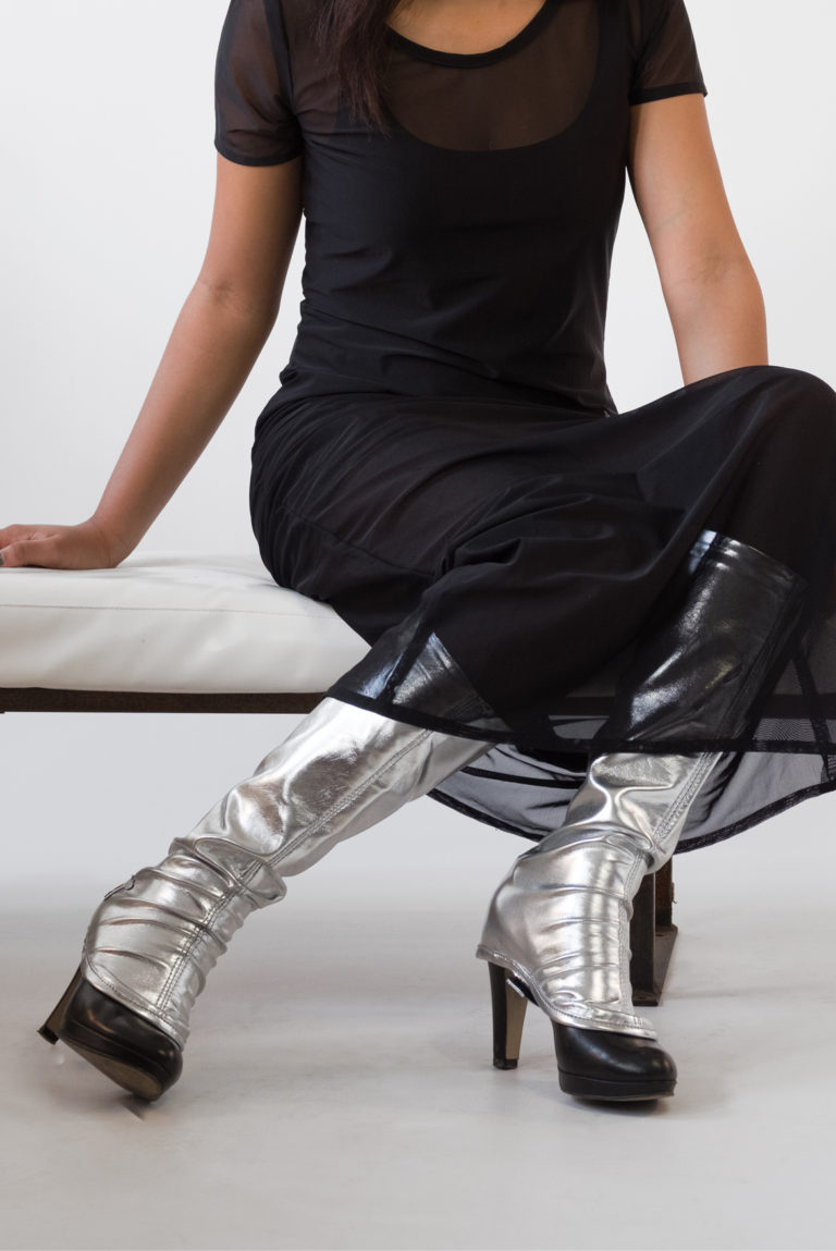 fashion gaiters silver janes