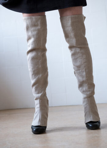 Summer legwear over-the-knee in cool linen
