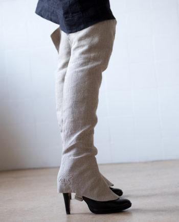 long linen gaiters