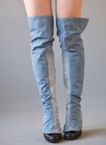jean gaiters over knee