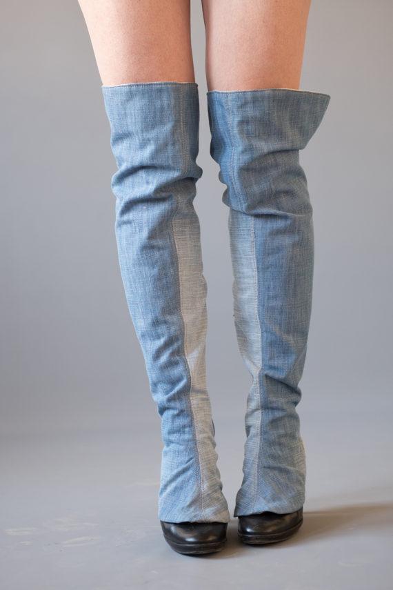 jean gaiters overknee