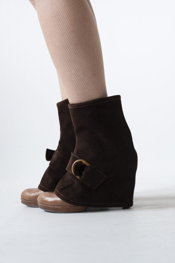 Suede Edie | brown recycled leather