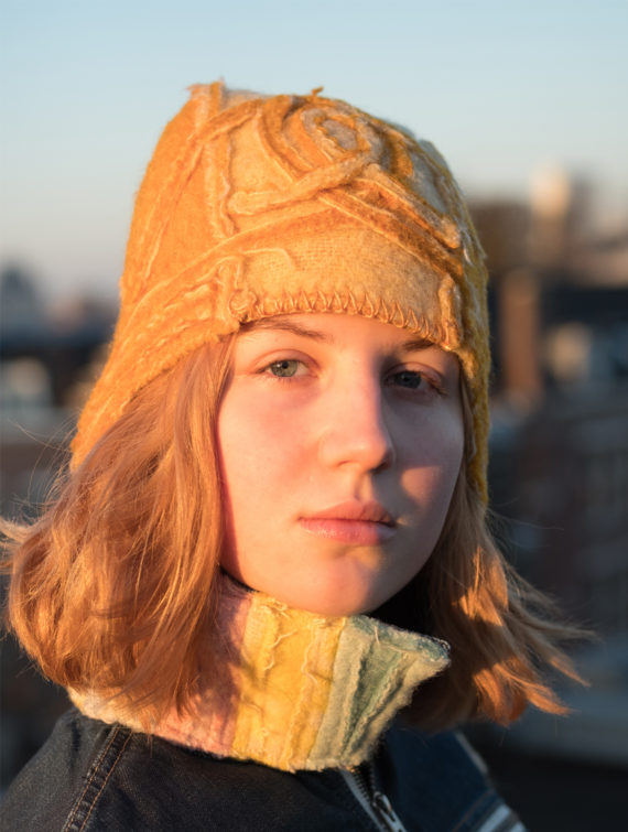 art-deco hat rusty brown