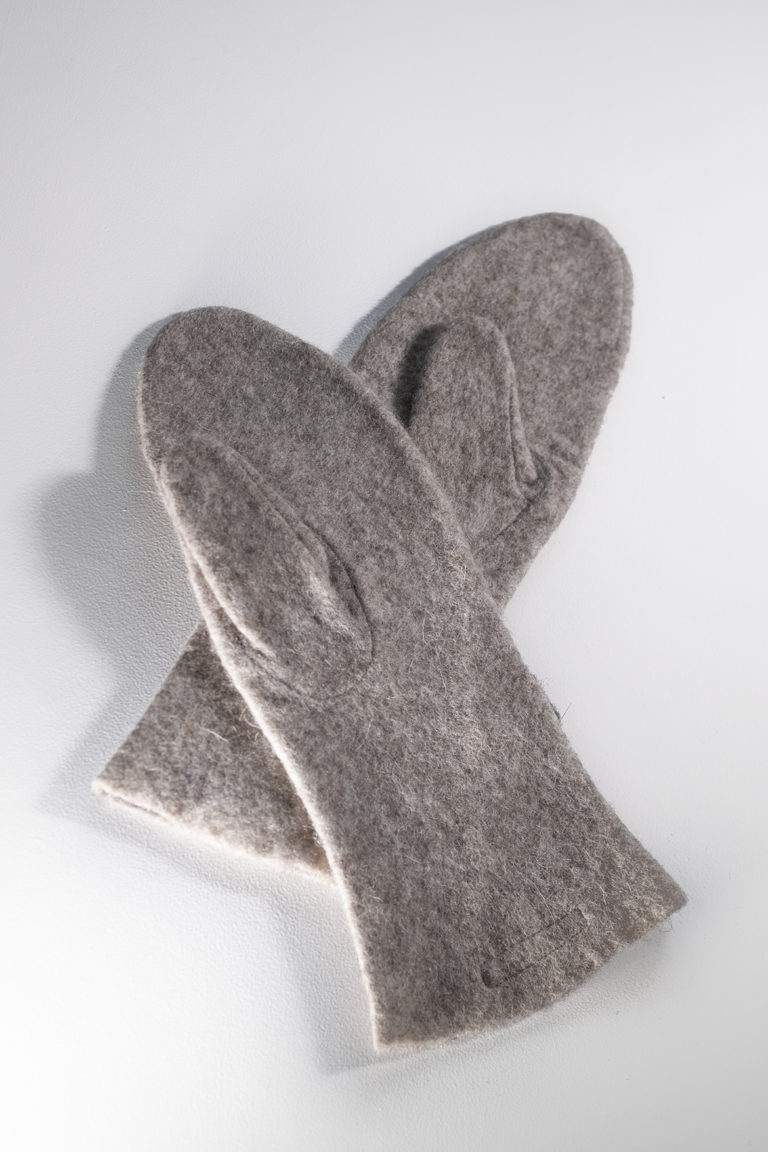 long mittens brown