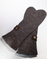 long mittens, med brown