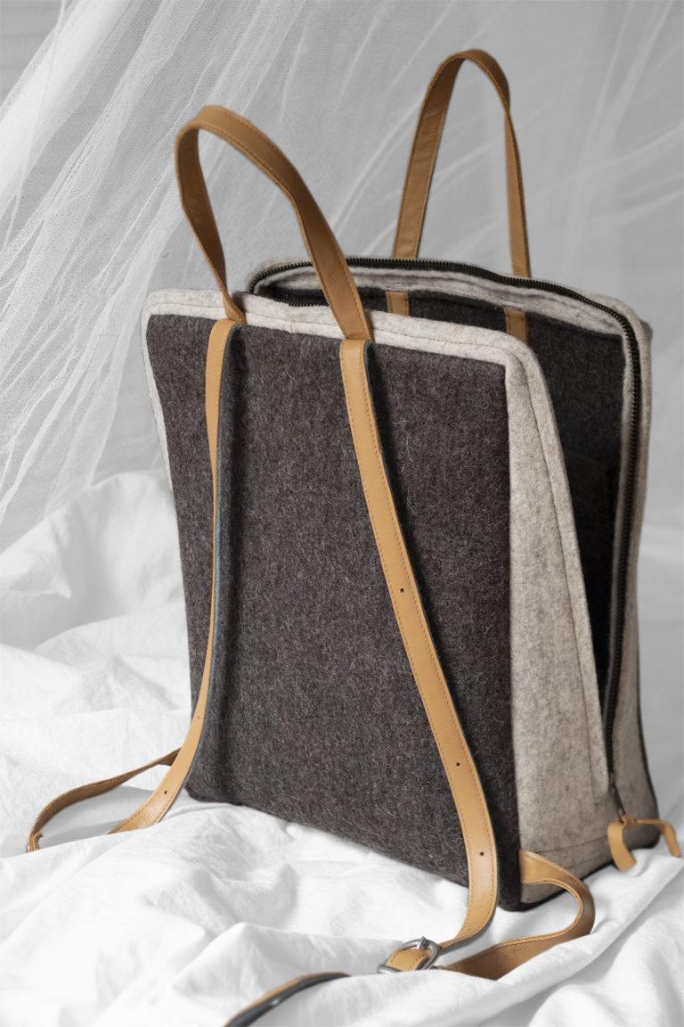 felt knapsack
