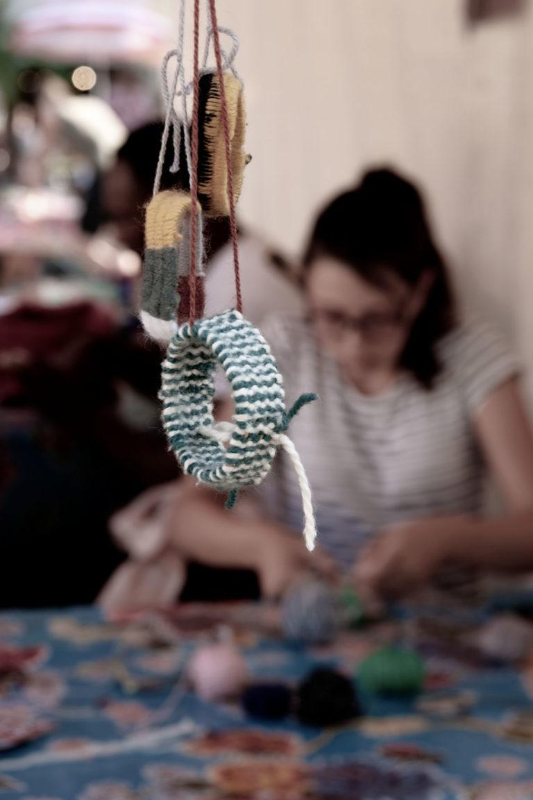 elastic wristband weave workshop