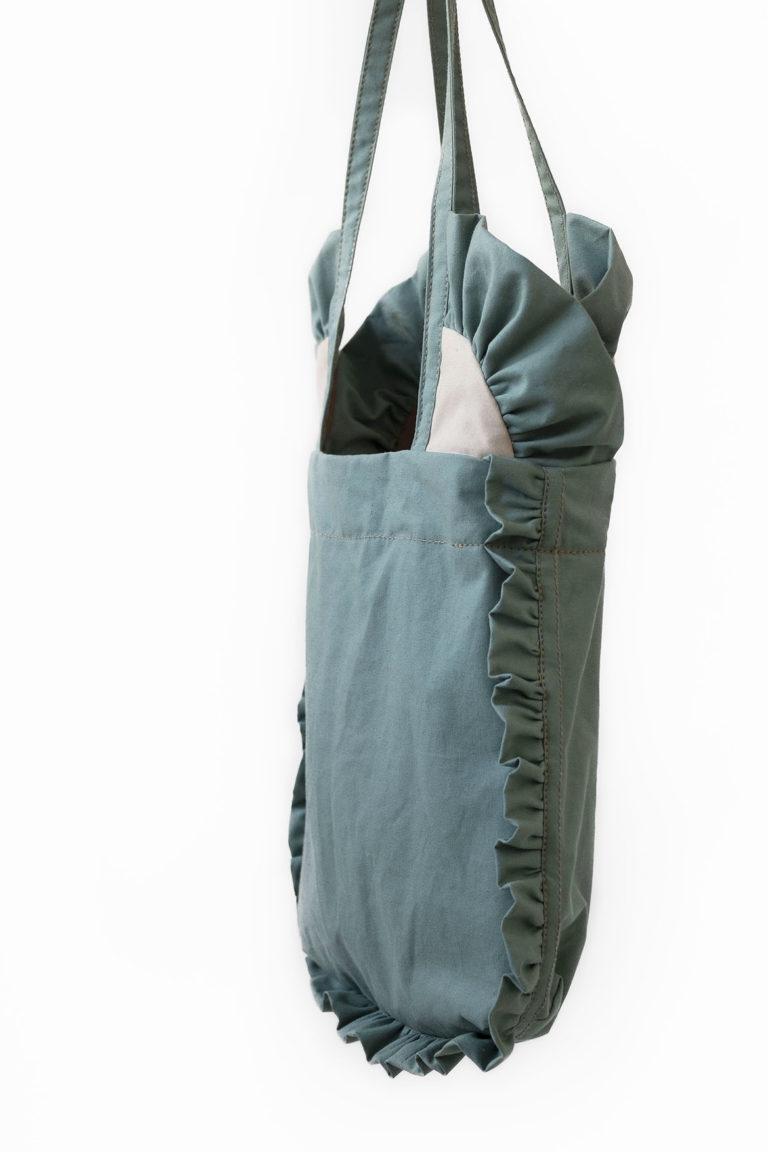 ruffles tote bag