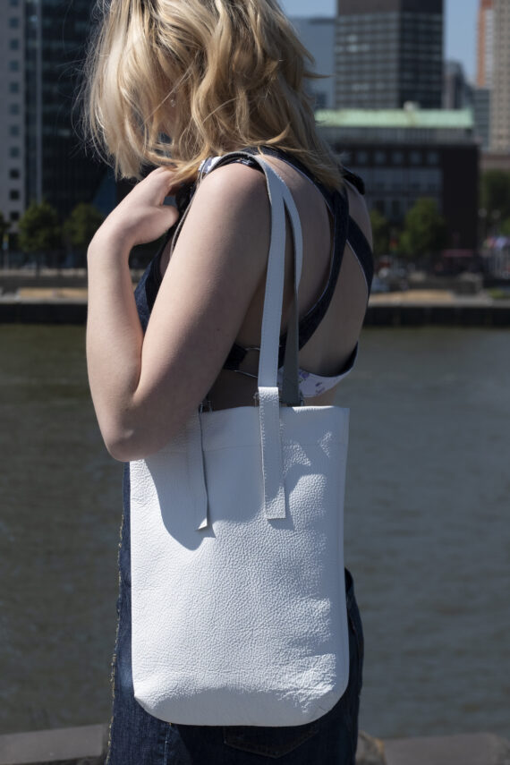 deluxe leather shopper bag