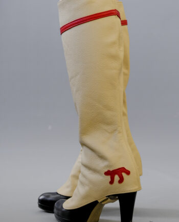red stripe gaiters