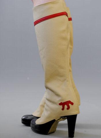 red stripe gaiters