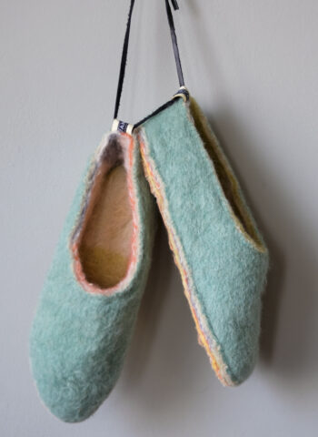 Candy Cane Green Layers Slippers